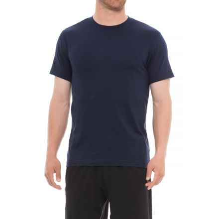 Gaiam Everyday Basic Crew Shirt - Short Sleeve (For Men) in Navy - Closeouts