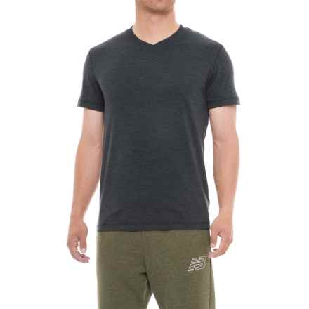 Gaiam Everyday Basic Shirt - V-Neck, Short Sleeve (For Men) in Black Heather - Closeouts