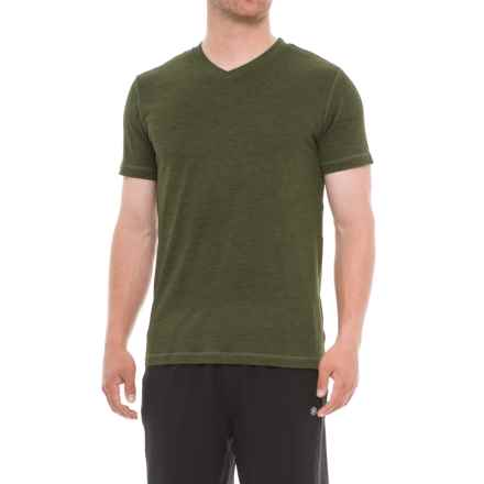 Gaiam Everyday Basic Shirt - V-Neck, Short Sleeve (For Men) in Rifle Green Heather - Closeouts