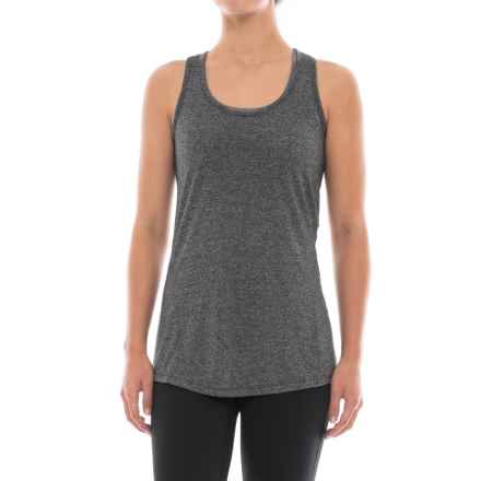 Gaiam Exhale Racerback Tank Top (For Women) in Black Heather (Tap Shoe) - Closeouts