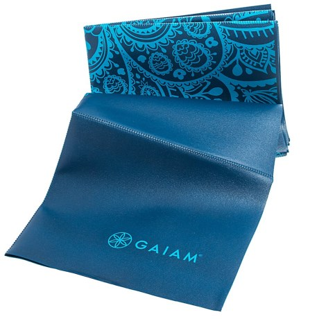 Gaiam Foldable Yoga Mat - 2mm in Blue Sundial