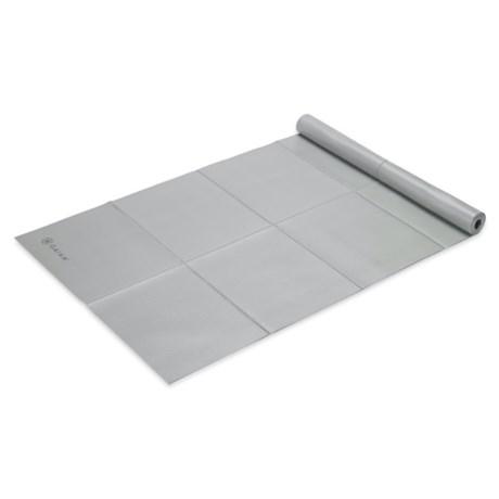 Gaiam Foldable Yoga Mat - 2mm in Grey