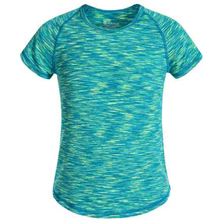 Gaiam Go Girl Space-Dyed Shirt - Short Sleeve (For Big Girls) in Teal - Closeouts