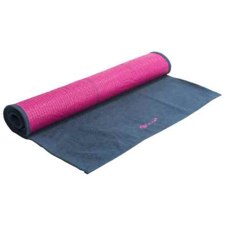 Gaiam Grippy Yoga Mat Towel in Blue/Fuchsia - Overstock