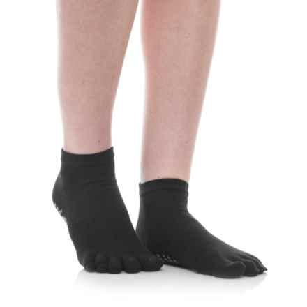 Gaiam Grippy Yoga Socks - Below the Ankle in Black/Grey - Overstock