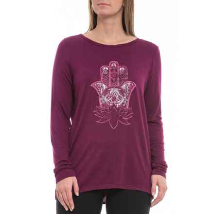 dff97ed7 Gaiam Hailey Hamsa Lotus Graphic Shirt - Long Sleeve (For Women) in Pickled  Beet