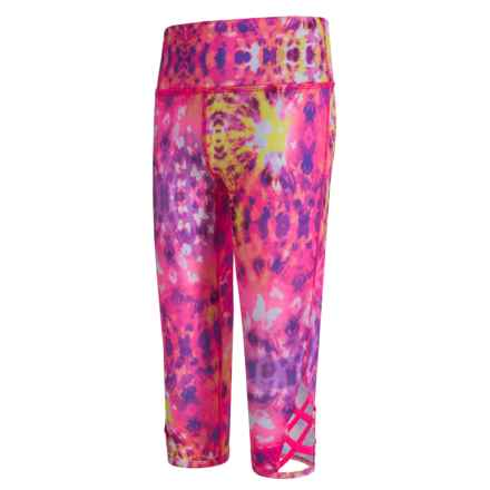 Gaiam Harmony Printed Capris (For Big Girls) in Hot Pink - Closeouts