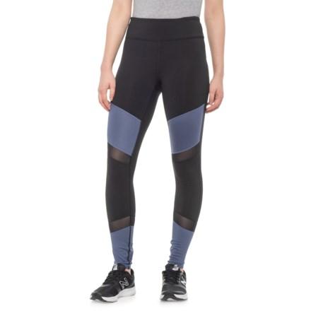 41878fb65f7f5 Gaiam Hayden Color-Block Shine Leggings (For Women) in Black