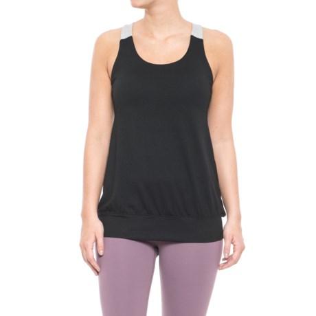 Gaiam Heather Mix Tank Top - Built-In Bra (For Women) in Black/Charcoal Heather/Grey Heather