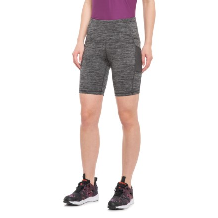 638e516cad Gaiam High-Rise Side Pocket Yoga Shorts (For Women) in Charcoal Heather