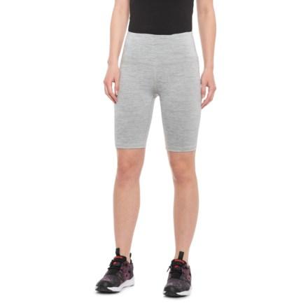 d50a4cc48c Gaiam High-Rise Yoga Shorts (For Women) in Grey Heather