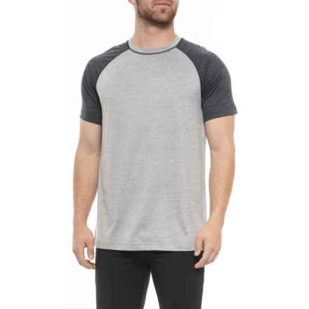 5151a9da Gaiam Inhale T-Shirt - Short Sleeve (For Men) in Sleet Heather -