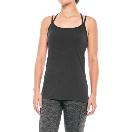 Gaiam Lana Tank Top - Built-In Bra (For Women) in Black (Tap Shoe)