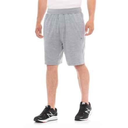 Gaiam Longevity Knit Shorts (For Men) in Sleet Heather - Closeouts