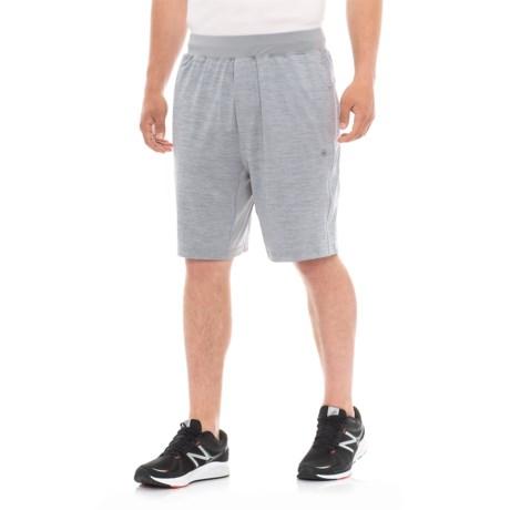 Gaiam Longevity Knit Shorts (For Men) in Sleet Heather