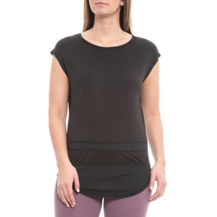 0561f97ed73f0 Gaiam Naomi Mesh Trim T-Shirt - Short Sleeve (For Women) in Black