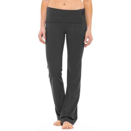 Gaiam Nova Om Bootcut Pants (For Women) in Black (Tap Shoe) - Closeouts