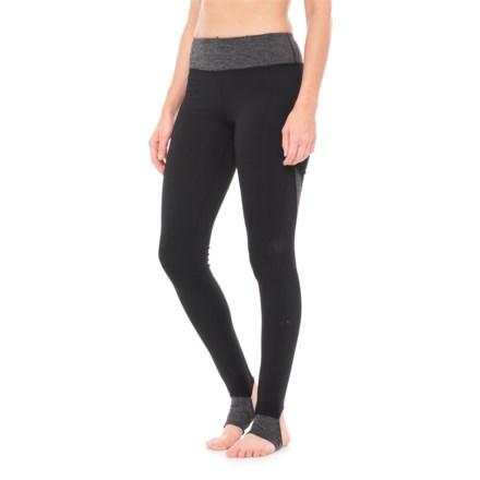 1ec052767f Gaiam Om Barre Stirrup Leggings (For Women) in Black (Tap Shoe) -