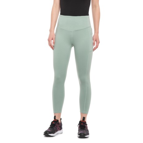 06d31fabe6 Gaiam Om High-Rise Relax Yoga Capris (For Women) in Sage Green
