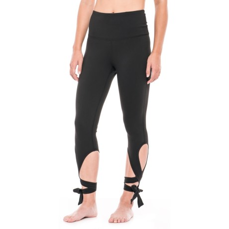 Gaiam Om High-Rise Violet Ballet Leggings (For Women) in Black (Tap Shoe)