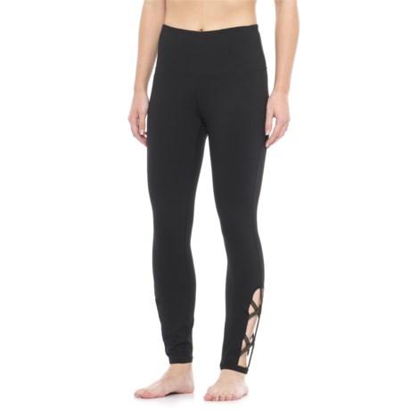 Gaiam Om Lana Foil High-Rise Leggings (For Women) in Black