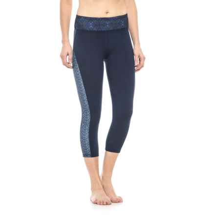 Gaiam Om Luxe Yoga Capris (For Women) in Maritime Blue - Closeouts