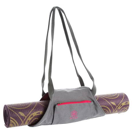 Gaiam On-the-Go Pro Yoga Mat Carrier in Fuchsia Red/Storm