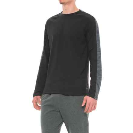 Gaiam Power Crew Shirt - Long Sleeve (For Men) in Black - Closeouts