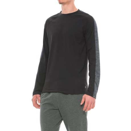 Gaiam Power Crew Shirt - Long Sleeve (For Men) in Black