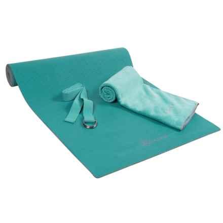 Gaiam Premium Hot-Yoga Kit in Teal - Closeouts