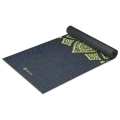 Gaiam Premium Yoga Mat - 6mm in Sundial Layers