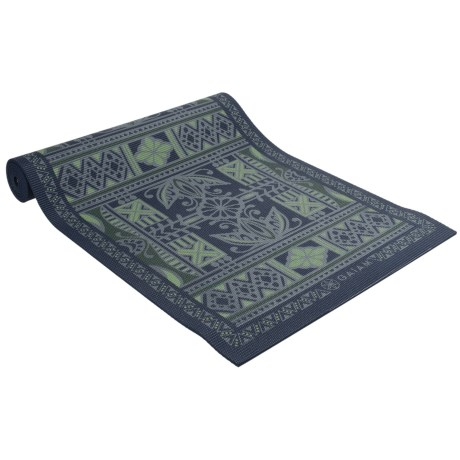 Gaiam Reversible Yoga Mat - 6mm in Boho Folk