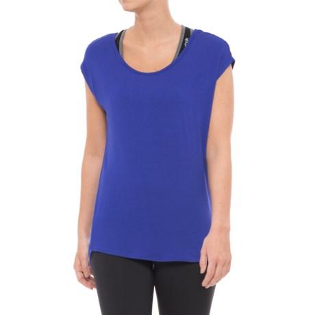 Gaiam Stella Solid Shirt - Short Sleeve (For Women) in Royal Blue