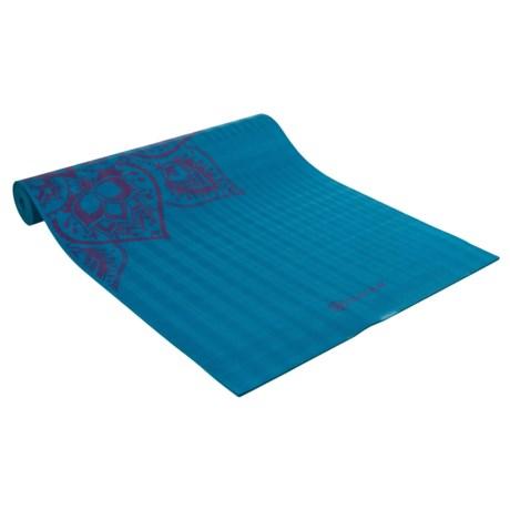 Gaiam Studio Select Sticky-Grip Mandala Reversible Yoga Mat - 5mm in Deep Purple