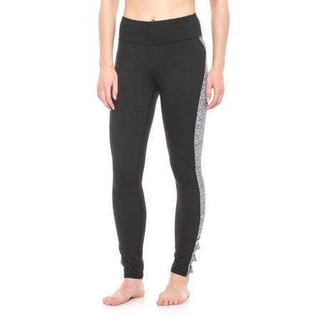 Gaiam Taylor Twist Leggings (For Women) in Black W/Black Heather