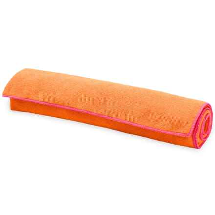 """Gaiam Thirsty Yoga Towel - 24x68"""" in Tangerine/Posey - Closeouts"""