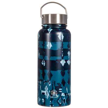 Gaiam Wide Mouth Stainless Steel Water Bottle - 32 oz. in See Glass - Closeouts