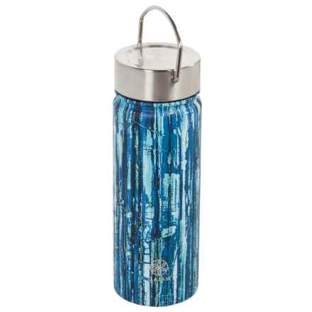 Gaiam Wide-Mouth Water Bottle - BPA-Free Stainless Steel, 18 fl.oz. in Bluegrass - Closeouts