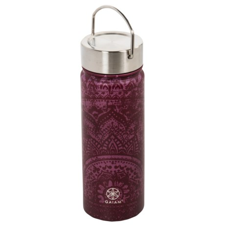 07536dc63c Gaiam Wide-Mouth Water Bottle - BPA-Free Stainless Steel, 18 fl.oz ...