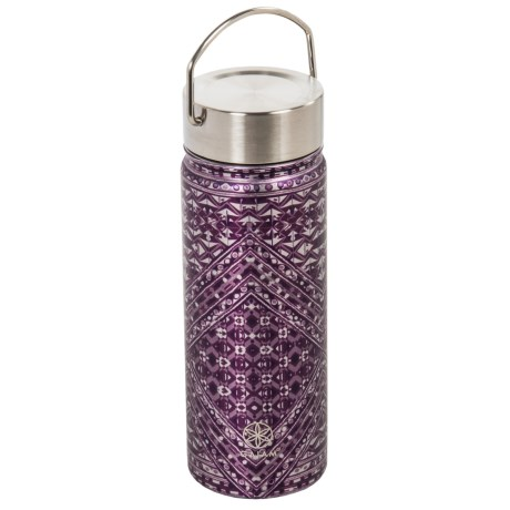 Gaiam Wide-Mouth Water Bottle - BPA-Free Stainless Steel, 18 fl.oz. in Mosaic