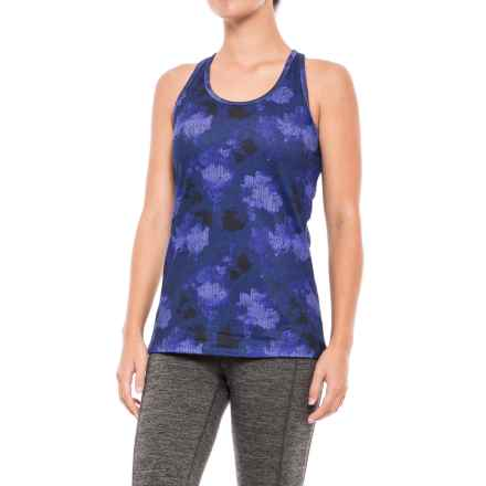 Gaiam Willa Hayden Printed Tank Top - Built-In Bra (For Women) in Clemantis Blue - Closeouts