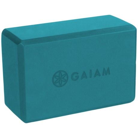 "Gaiam Yoga Block - 9x6x4"" in Blue Teal"