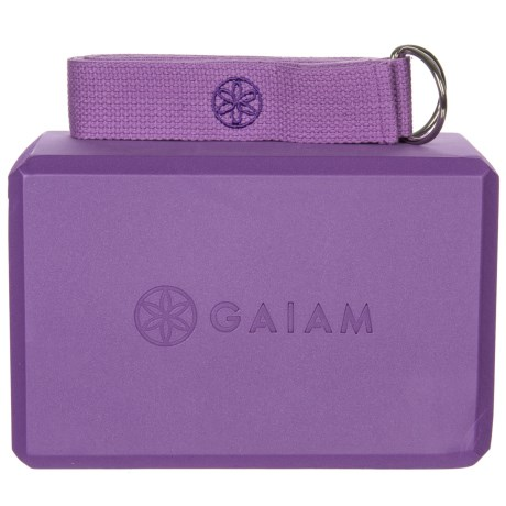 Gaiam Yoga Block And Strap Combo 2 Piece Save 33