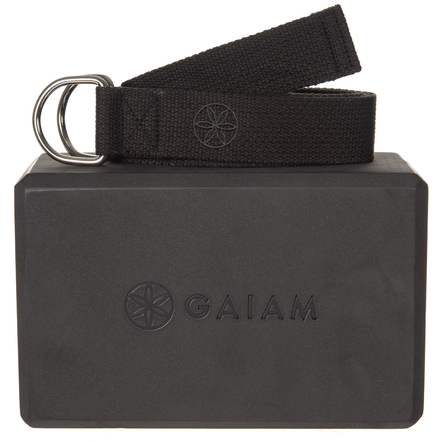 Gaiam Yoga Block Strap Combo Black Save 33