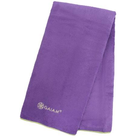 Gaiam Yoga Hand Towel in Grape/Celery