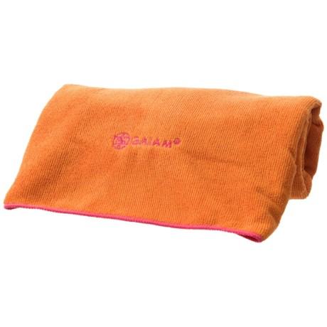 Gaiam Yoga Mat Towel in Tangerine/Posey
