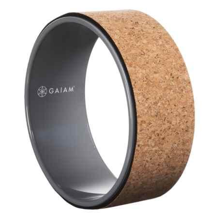 Gaiam Yoga Wheel in Grey/Cork - Closeouts