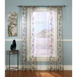 "Gala Collection Enchantment Chenille Sheer Curtains - 108x84"", Pocket Top in Pewter"