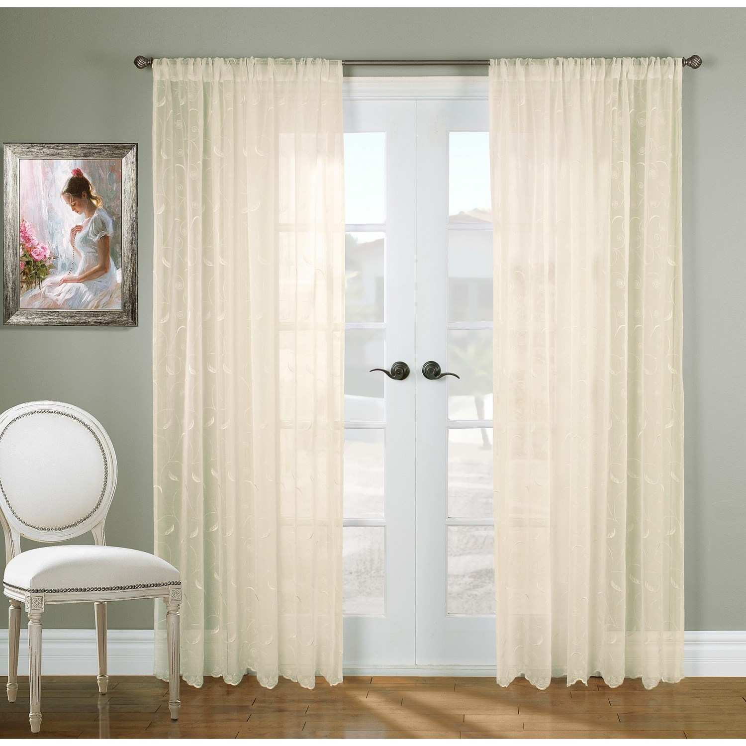 gala collection hathaway embroidered semi sheer curtains