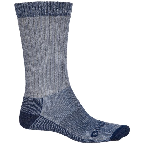 GANDER MTN Lightweight Hiking Socks - Merino Wool, Crew (For Men and Women) in Navy